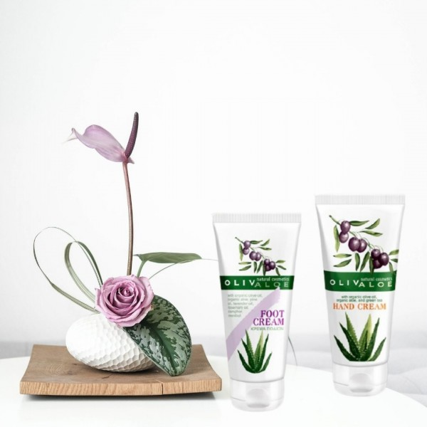 Gift Idea Olivaloe Hand and Feet Care - Natural - Organic  Cosmetics - Offers-Sales