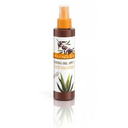 Tanning Oil SPF 5 with organic olive oil, organic aloe