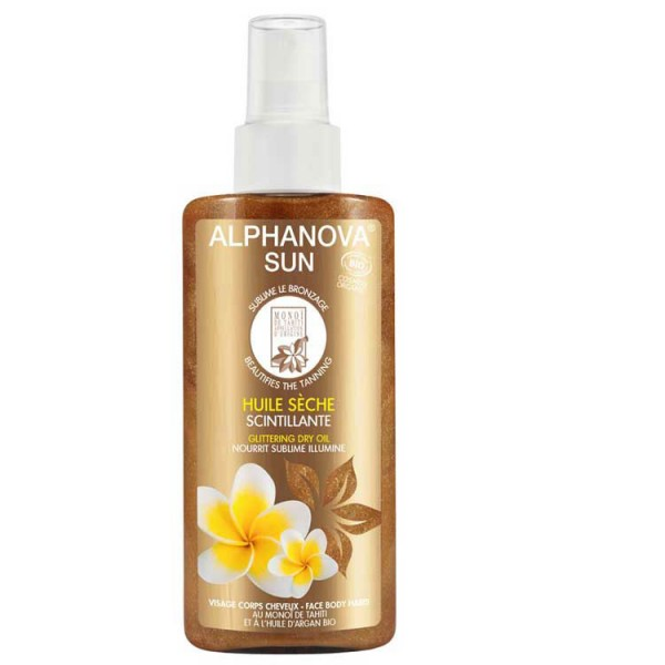 Body & Hair glittering dry oil  - Natural - Organic  Cosmetics Body Sunscreen -  Beauty Products
