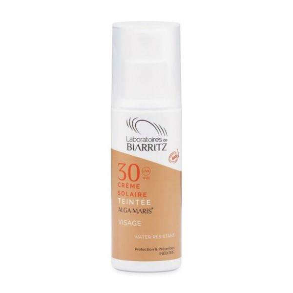 SPF30 Certified Organic Tinted Face Sunscreen Algamaris - Natural - Organic Cosmetics Make Up Foundation Organic Make Up - Beauty Products