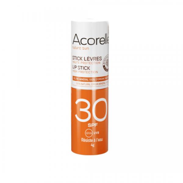 Acorelle sunscreen organic lipstick SPF30 -  Organic - Natural Cosmetics Lip Balm -  Beauty Products