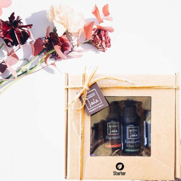 Box starter kit set 4 essential oils - Natural - Organic Cosmetics  Essential Oils -  Beauty Products
