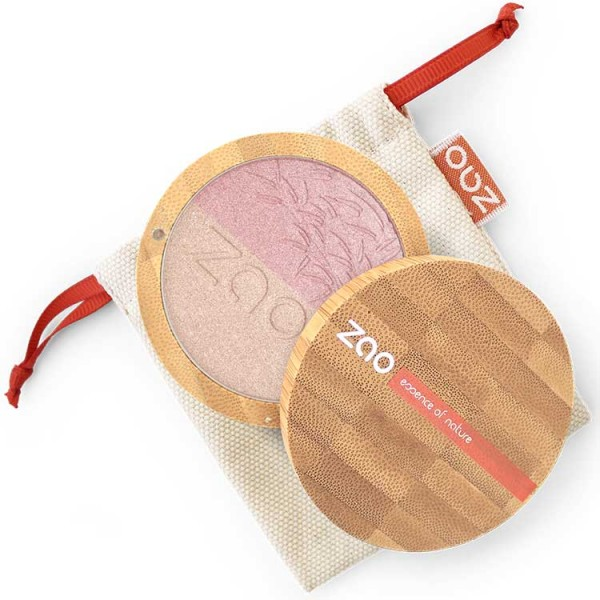 Shine Up Powder Zao-Pink & Gold - Natural - Organic Cosmetics Face Powder Organic Make Up - Beauty Products