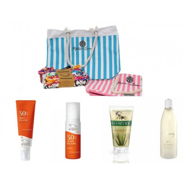 Sunscreen Gift Idea No3 -  Natural - Organic  Cosmetics Sunscreen Sets -  Beauty Products