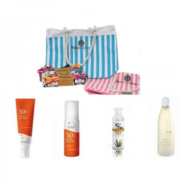 Sunscreen Gift Idea No3 -  Natural - Organic  Cosmetics Sunscreen Sets -  Beauty Products