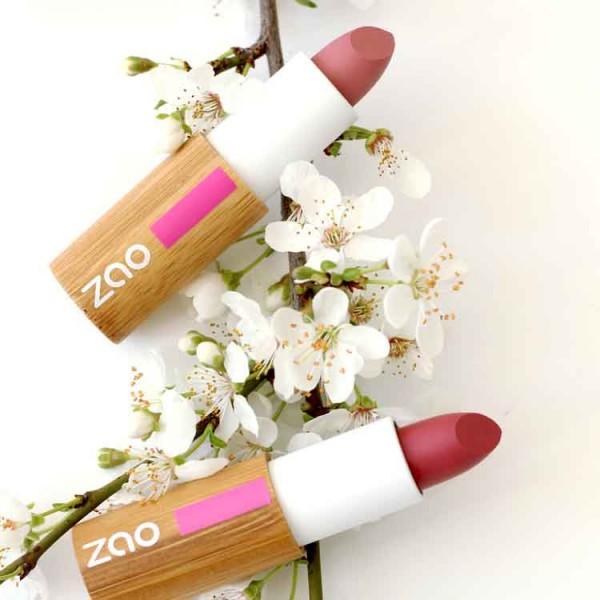 Lipstick zao matt pink red - Natural - Organic Cosmetics Lipsticks Organic Make Up - Beauty Products